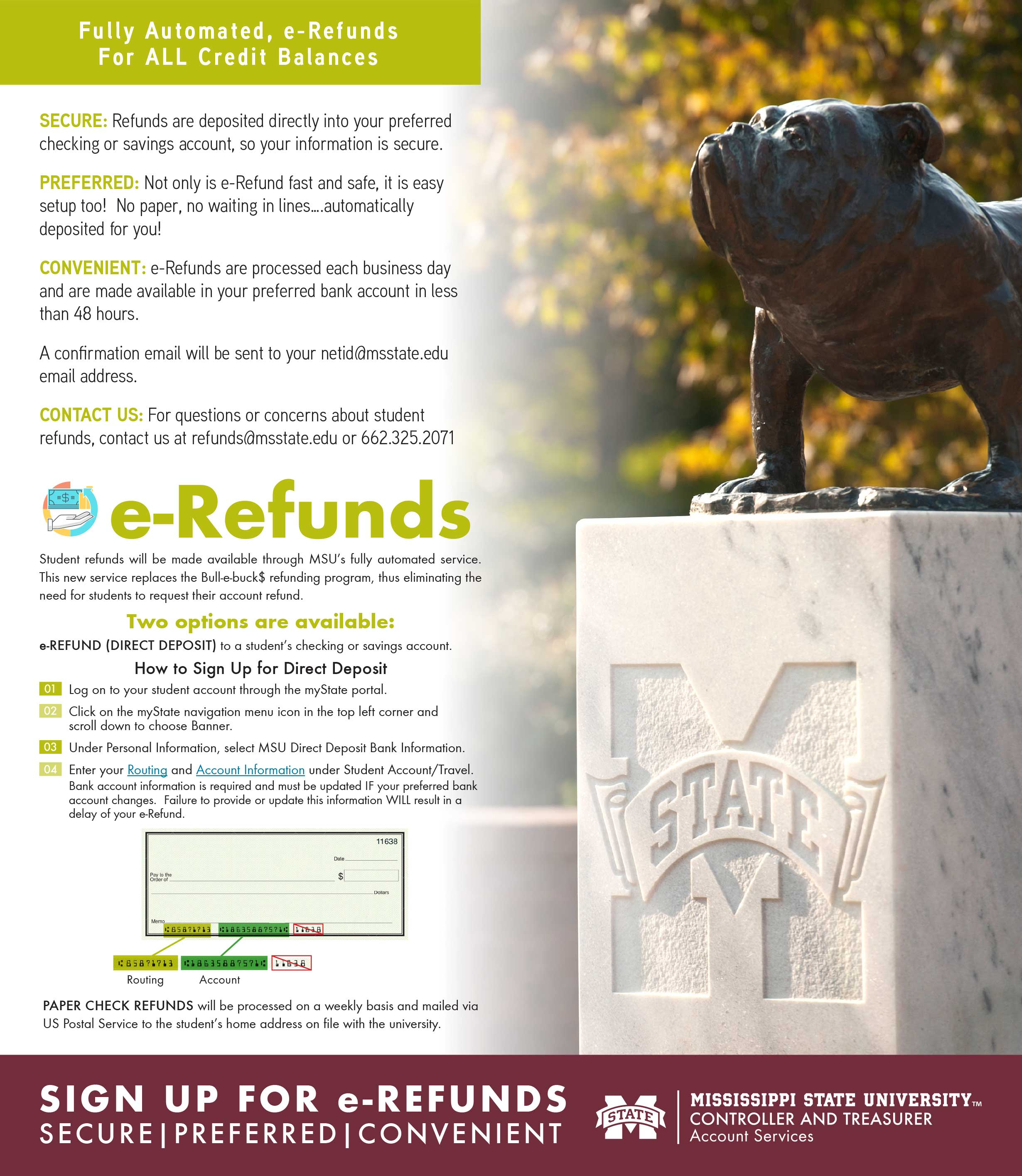 full page display for refunds